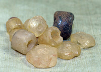 11 Ancient Stone Beads from Mali; Lou Zeldis Components