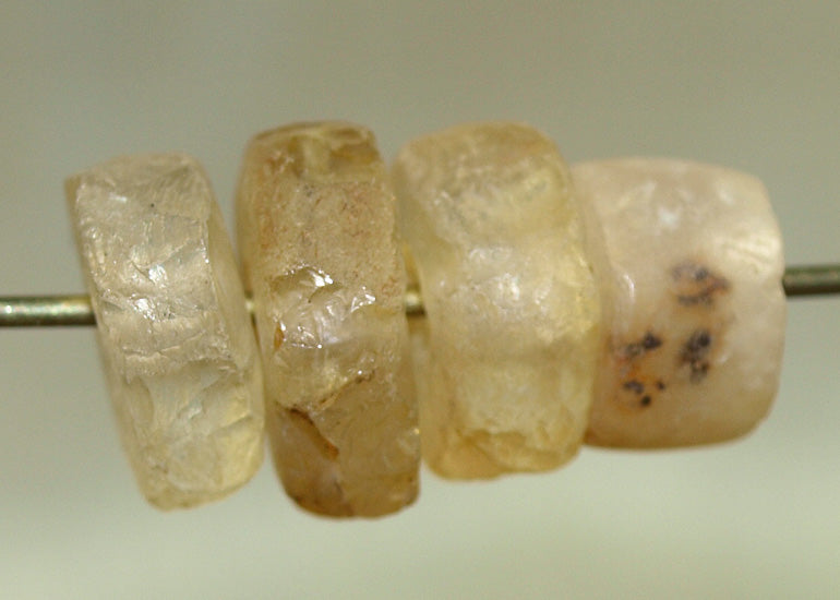 Four Ancient Stone Beads from Mali; Lou Zeldis Components