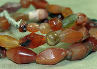 Collection of Mixed Carnelian Beads; Lou Zeldis Components