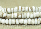 Strand of 10º Grungy White Indonesian Seed Beads; Lou Zeldis Components