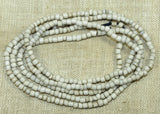 Strand of 10º Squared Off White Indonesian Seed Beads; Lou Zeldis Components