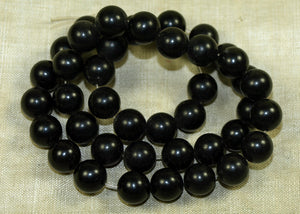 Strand of 8mm Jet Beads; Lou Zeldis Components