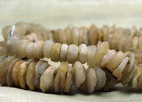 Strand of Ancient Quartz Disc Beads from Lou Zeldis Collection