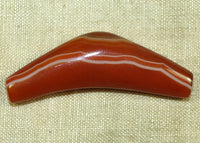 Banded Carnelian Elbow Bead; Lou Zeldis Component Collection