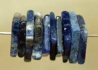 Set of ten Square Sodalite Beads; Lou Zeldis Component Collection