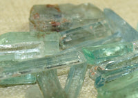 Rough, Raw Aquamarine Crystals; Lou Zeldis Component Collection