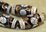 Strand of Unusual Glass Beads from Indonesia; Lou Zeldis Component Collection