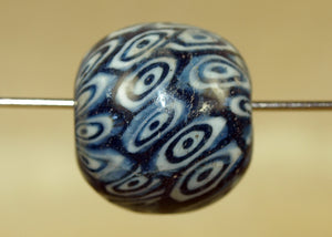 Large Vintage Glass Bead from Indonesia; Lou Zeldis Component Collection
