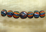 Seven Funky Vintage 60s Glass Beads from Indonesia; Lou Zeldis Component Collection