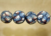 Four Funky Vintage 60s Glass Beads from Indonesia; Lou Zeldis Component Collection