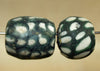 Pair of Large Old Glass Beads from Indonesia; Lou Zeldis Component Collection
