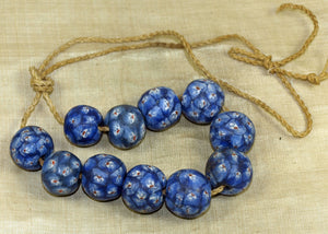 "Strand Funky Vintage Glass ""Face"" Beads from Java; Lou Zeldis Component Collection"