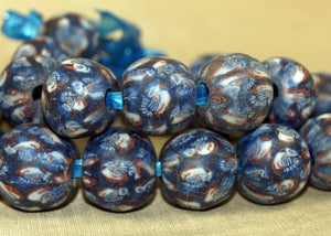 Strand of Funky Vintage 60s Glass Beads from Indonesia; Lou Zeldis Component Collection