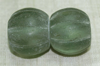 Green Glass Bead from Afghanistan