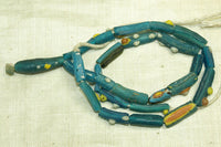 Roman Era Translucent blue Glass Beads with