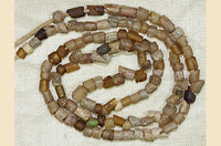 Ancient Amber Gold Foil Afghan Glass Beads, D