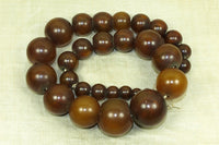 Strand of Antique Imitation Amber Beads from Guinea