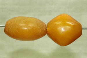 Set of Two Antique Imitation Amber Beads