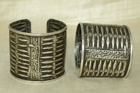 Old India Silver Bracelets, Pair