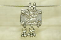 Antique Silver Hindu Monkey God Prayer Box Pendant