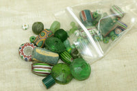 Bag 'O Beads, Green African Trade Mix