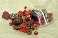 Bag O' Red & Brown Trade Beads