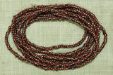 Brick-Brown with white stripe seed beads, 10º