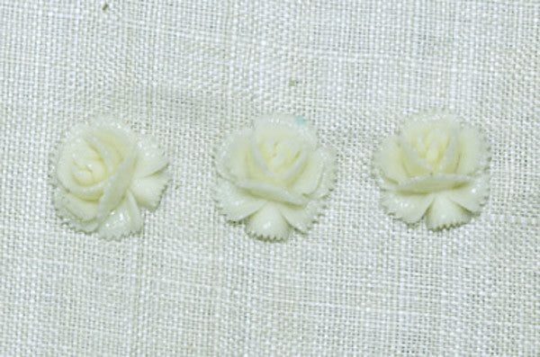 Vintage Glass Cabochons, Powdered Resin Flowers