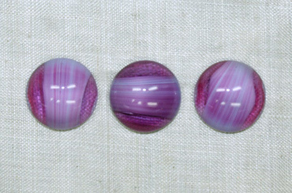 Vintage Glass Cabochons, Lt. Amethyst Cabs