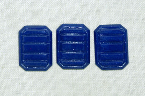 Vintage Cabochons, Royal Blue Rectangle