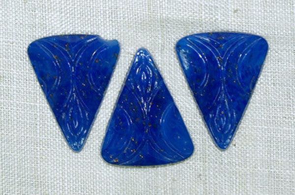 Vintage Cab: Art Deco Royal Blue Triangle