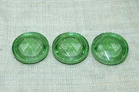 Vintage Cab: Funky Green Faceted Button