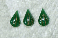 Vintage Cab: Dark Green Teardrop with Gold Foil