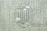 Vintage Cab: Etched Glass Oval