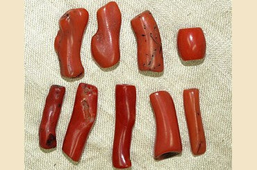 Set of Antique Red Branch Coral Beads