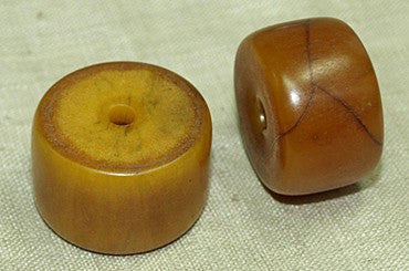 Dark Amber Cylindrical Bead