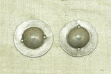 Antique Silver Domed Clothing Embellishment