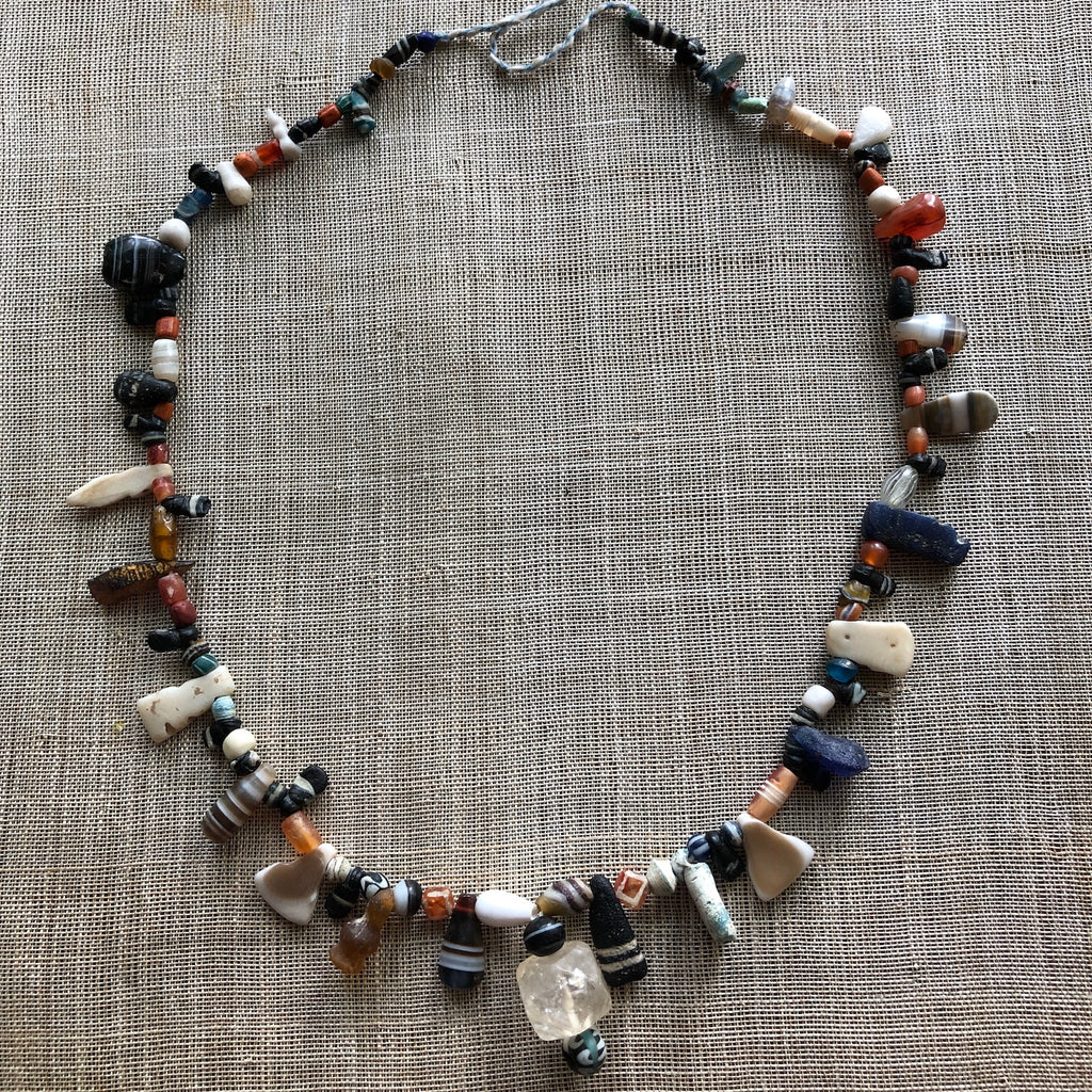 Ancient Stone and Shell Fetish Necklace