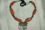 Yemen Coral & Silver Necklace