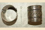 Pair of Delicate, Wide Afghanistan-made Cuffs