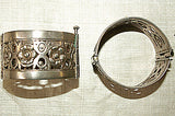 Narrow Afghanistan-made Silver Cuffs