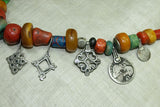 Antique Berber Necklace Of Mixed Beads and Pendants