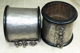 Pair of Ebony and Sterling Cuffs