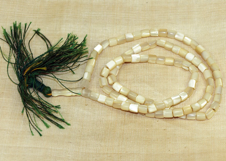 Antique Mother-of-Pearl Prayer Beads from Pakistan