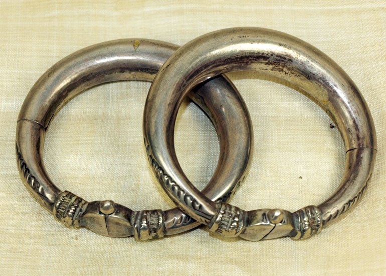 Antique Sterling Silver Indian bangles