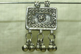 Antique Silver Prayer Box pendant with dangles from India