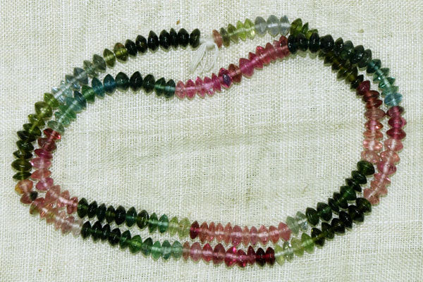 Tourmaline Unfaceted Rondelle Buttons