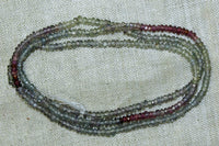 Strand of Tiny Sapphires and Garnets