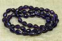 Amethyst faceted Tear Drops beads