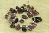 Amethyst nuggetty briolette beads